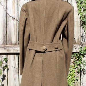 Vintage Jackets & Coats - Vintage WWII Wool Military Coat Peacoat 34R